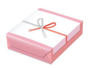 ピンクの箱に入った手土産