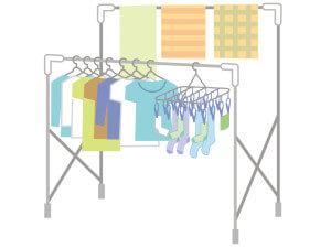二段の洗濯物