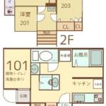 WAKAMIYAハウス 新間取り図 シェアハウス 女性限定 初めての一人暮らし
