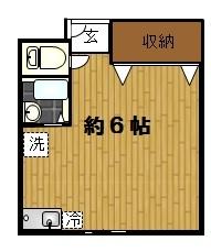 高円寺賃貸物件女性限定キャスケード一人暮らし間取り図