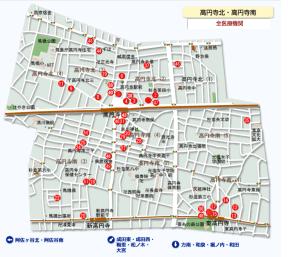 杉並区病院マップ