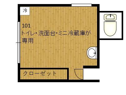 WAKAMIYAハウス101図面 シェアハウス 女性限定