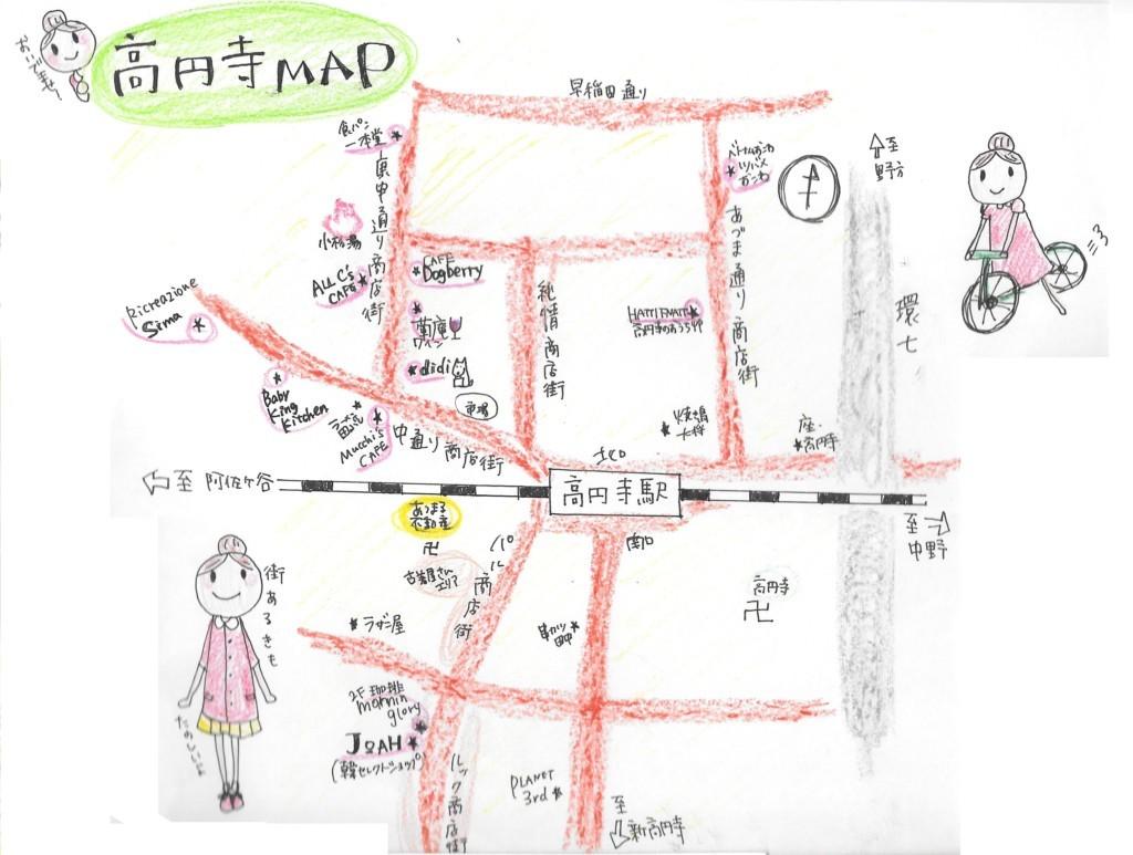 高円寺 MAP