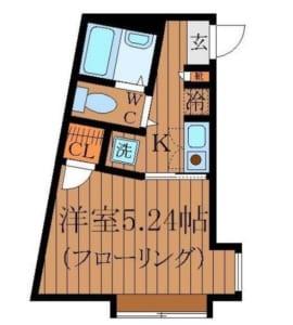 あいロード穂高 302号室 中野区新井1丁目 賃貸物件 間取り