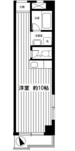 ドゥエル荻窪 304号室 杉並区荻窪5丁目 賃貸物件 荻窪駅 間取り図