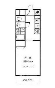 エスタシオン和田 203号室 杉並区和田3丁目 賃貸物件 東高円寺駅 間取り図