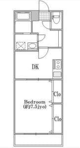 グレースキャッスル 201号室 杉並区成田西3丁目 賃貸物件 南阿佐ヶ谷駅 間取り図