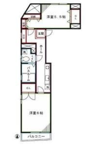 フレッシュ・ノア301号室 杉並区高円寺南2丁目 間取図
