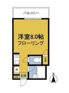 シルクヴィラ中野 305号室 中野区新井1丁目 賃貸物件 中野駅 間取り図