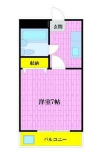 ローレルマンション 302号室 中野区新井1丁目 賃貸物件 中野駅 間取り図