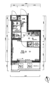 スパシエルクス中野野方 305号室 中野区野方6丁目 賃貸物件 野方駅 間取り図