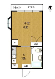 ワンアールナカオ 203号室 中野区大和町2丁目 賃貸物件 野方駅 間取り図