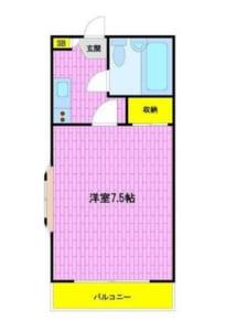 ローレルマンション 301号室 中野区新井1丁目 賃貸物件 中野駅 間取り図