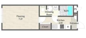 アムロゼッタ阿佐ヶ谷 203号室 杉並区阿佐谷南2丁目 賃貸物件 阿佐ヶ谷駅 間取り図