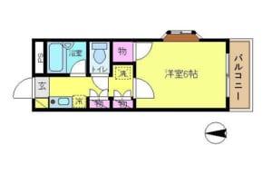 ヌーヴェラネ 203号室 中野区野方3丁目 賃貸物件 野方駅 間取り図
