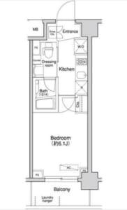 プライマル方南町 0412号室 中野区南台5丁目 賃貸物件 方南町駅 間取り図
