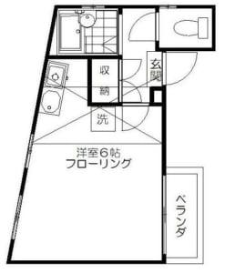 ハウスメイ 202号室 杉並区高円寺南1丁目 賃貸物件 間取り図