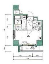 ドルチェ中野壱番館 201号室 中野区中央三丁目 賃貸物件 新中野 間取り図