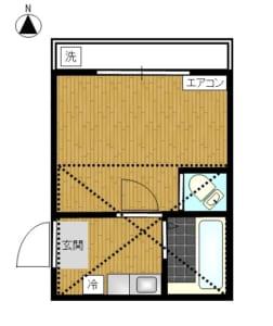 ルーエハイム 201号室 中野区大和町1丁目 賃貸物件 高円寺駅 間取り図