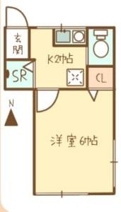 樋口荘 201号室 間取り図