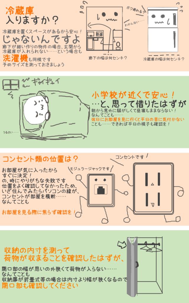 部屋探しの失敗談イラスト